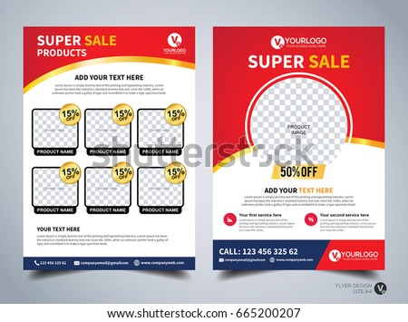 Flyer design template vector business flyer stock vector royalty flyer design template vector business flyer cover design layout in a4 size cheaphphosting Gallery