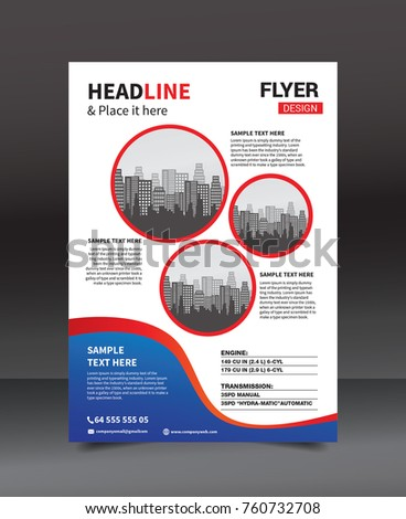 Flyer design template vector business flyer stock vector royalty flyer design template vector business flyer cover design layout in a4 size flashek Image collections