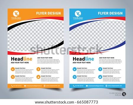 Flyer Design Template Vector Leaflet Design Stock Vector Royalty