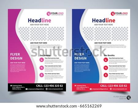 flyer design template vector leaflet design poster design business flyer cover design