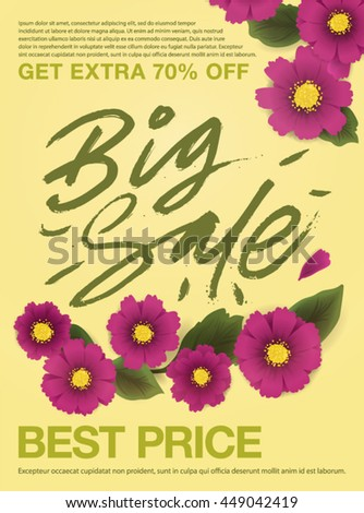 flyer design template vector sale poster stock vector royalty free