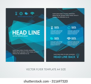 Flyer Design Templates Abstract Geometric Wave. Vector illustration