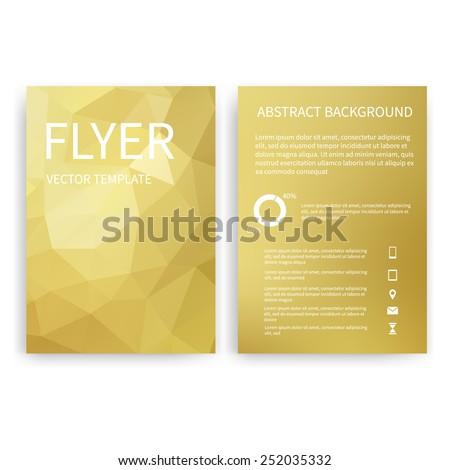 flyer design templates set gold a 4 stock vector royalty free