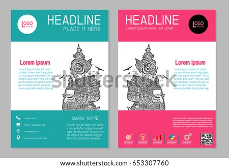 flyer design vector template a 4 size stock vector royalty free