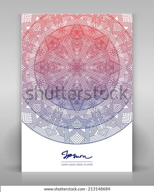 Flyer Geometric Decoration Design Magazine Folder Stock Vector