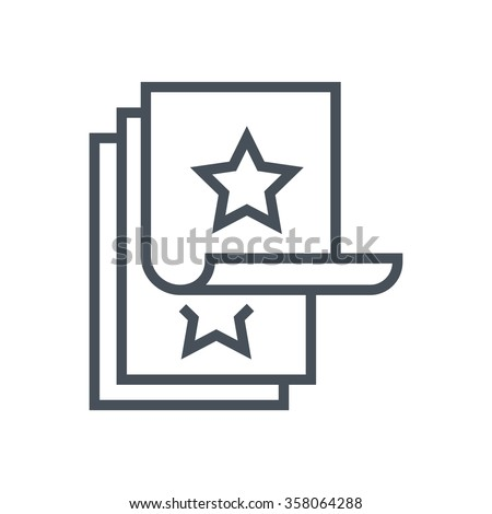 flyer icon suitable info graphics websites stock vector royalty