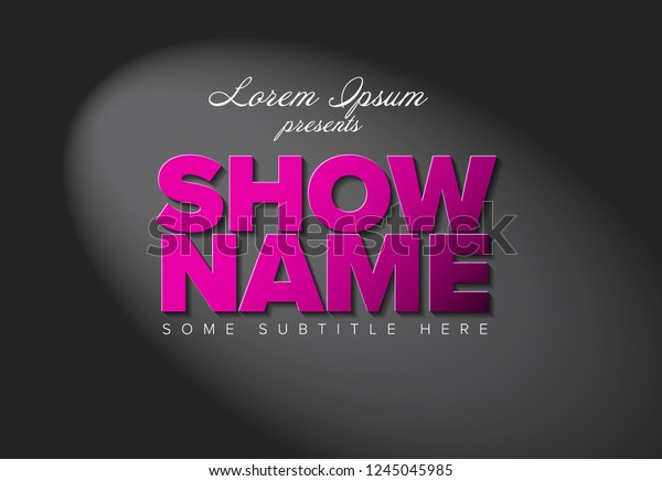 Flyer Intro Template Big Pink Letters Stock Vector Royalty Free