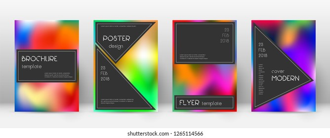 Flyer layout. Black uncommon template for Brochure, Annual Report, Magazine, Poster, Corporate Presentation, Portfolio, Flyer. Actual colorful cover page.