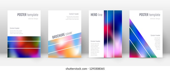 Flyer layout. Geometric dazzling template for Brochure, Annual Report, Magazine, Poster, Corporate Presentation, Portfolio, Flyer. Alluring colorful cover page.