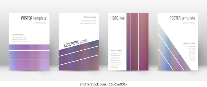 Flyer layout. Geometric majestic template for Brochure, Annual Report, Magazine, Poster, Corporate Presentation, Portfolio, Flyer. Alive bright hologram cover page.