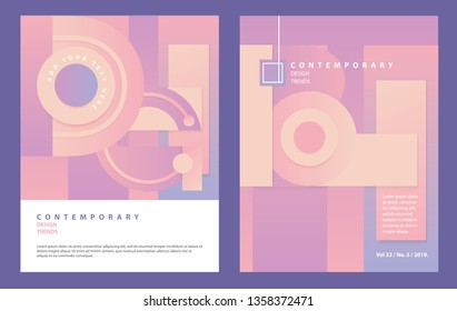 Flyer Layout with Pastel Geometric Patterns