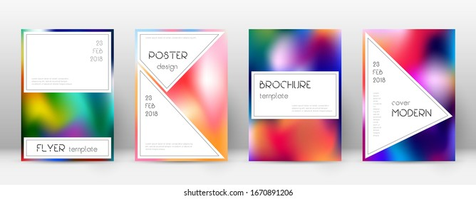 Flyer layout. Stylish captivating template for Brochure, Annual Report, Magazine, Poster, Corporate Presentation, Portfolio, Flyer. Awesome colorful cover page.