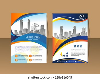 flyer, layout template. with elements and placeholder for picture.