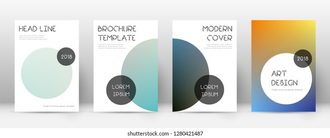 Flyer layout. Trendy incredible template for Brochure, Annual Report, Magazine, Poster, Corporate Presentation, Portfolio, Flyer. Beauteous color transition cover page.