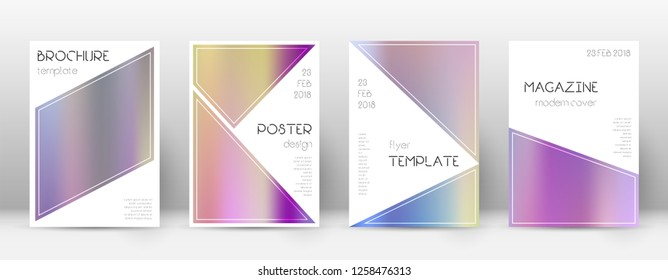 Flyer layout. Triangle uncommon template for Brochure, Annual Report, Magazine, Poster, Corporate Presentation, Portfolio, Flyer. Beautiful color gradients cover page.