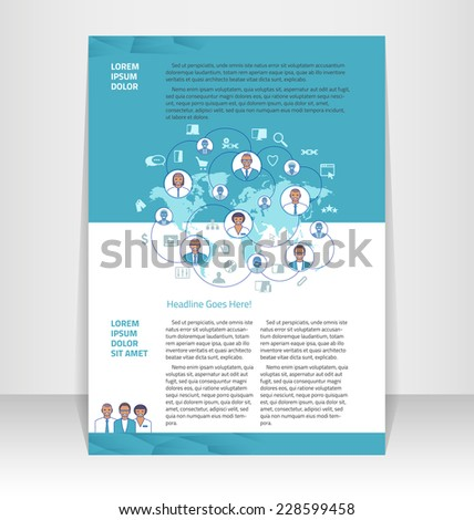 flyer leaflet booklet layout editable design stock vector royalty