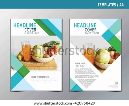 Flyer Leaflet Brochure Template A 4 Size Stock Vector Royalty Free