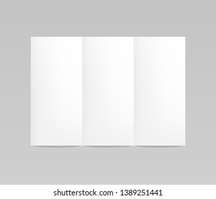 Flyer mockup, folded realistic blank sheet of paper, stationery