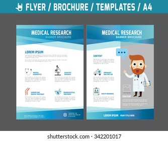 Flyer multipurpose design vector template in A4 size.