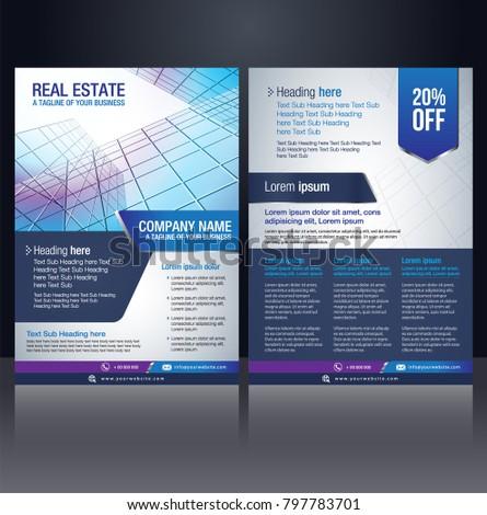 flyer pamphlet brochure poster cover design stock vector royalty