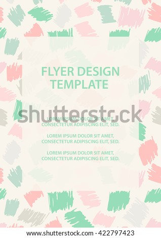 flyer poster design template pastel flyer vector flyer design template creative layout