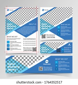 flyer, social media, and banner templates for Digital marketing professional agent