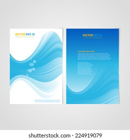 Flyer template back and front design. Brochure design templates collection with bubbles