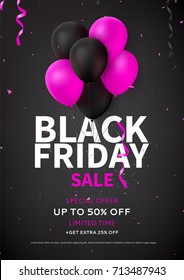 black friday sale flyer template dark のベクター画像素材