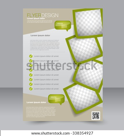 flyer template brochure design editable a 4 stock vector royalty