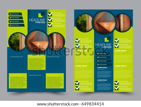 Flyer Template Brochure Set Annual Report Stock Vector Royalty Free