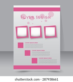 flyer design template brochure layout pink stock vector royalty