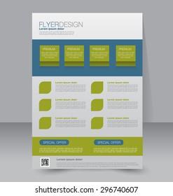 flyer template business brochure editable a 4 stock vector royalty