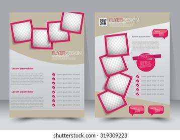 flyer template brochure design editable a 4 stock vector royalty