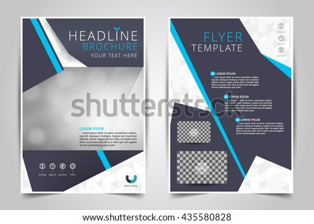 flyer template business brochure editable a 4 stock vector royalty
