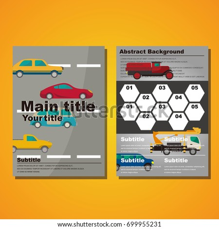 flyer template car illustration stock vector royalty free