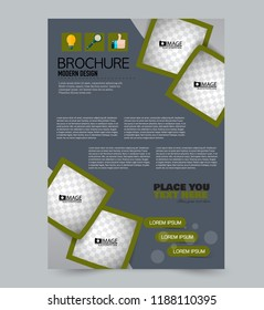 flyer template brochure design editable a 4 のベクター画像素材