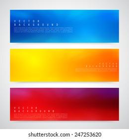 Flyer template header design. Banner design templates collection