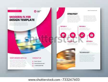 flyer template layout design business flyer stock vector royalty