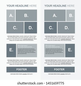 Flyer vector layout template for business or non-profit organization