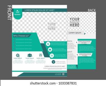 Flyers design template vector. Brochure report business magazine poster.
