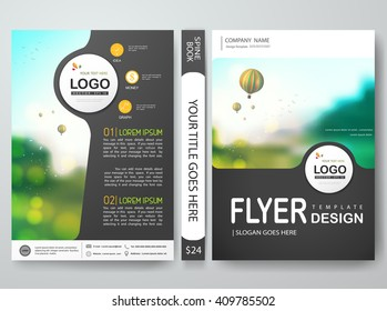 Flyers design template vector. Brochure report business magazine poster. Cover book minimal portfolio presentation and abstract gray. Layout in a4 size