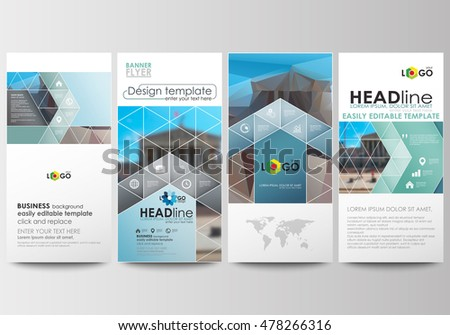 flyers set modern banners business templates stock vector royalty