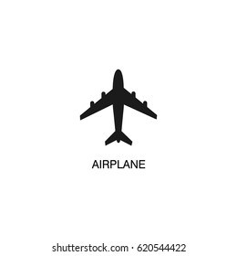 Flying airplane icon vector illustration.