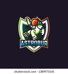 Flying Astronot Template esport logo