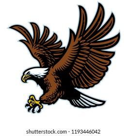flying bald eagle mascot