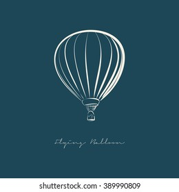 Flying Balloon illustration vector