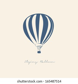 FLYING BALLOON VECTOR ILLUSTRATION