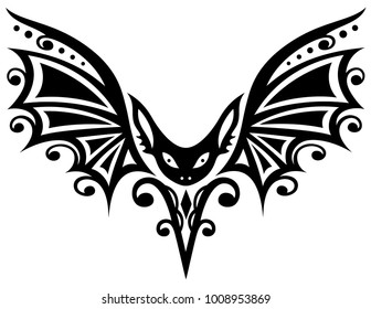 Flying Bat Silhouettes Tattoo