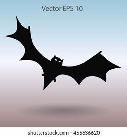 flying bat vector illustration