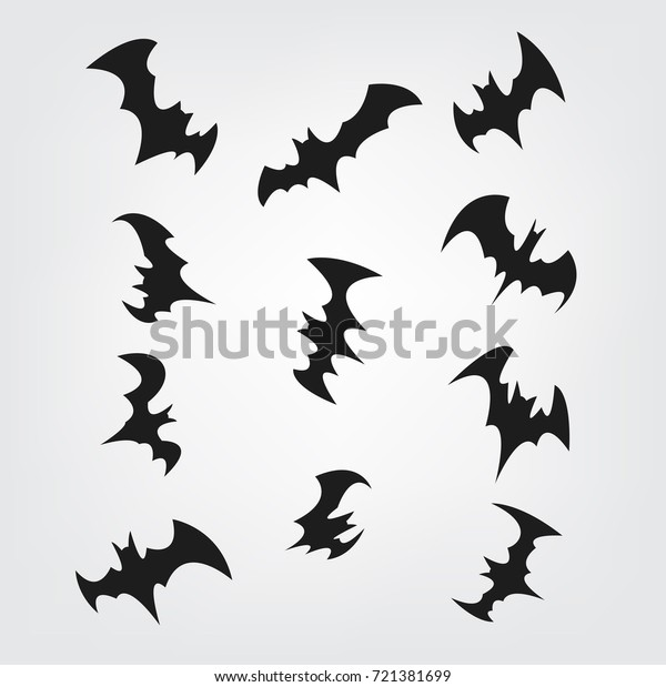 image relating to Bats Printable identified as Traveling Bats Fastened Halloween Black Silhouette Inventory Vector